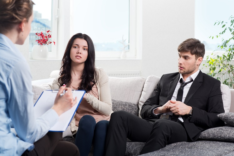 Couple Receiving Mediation from Lawyer
